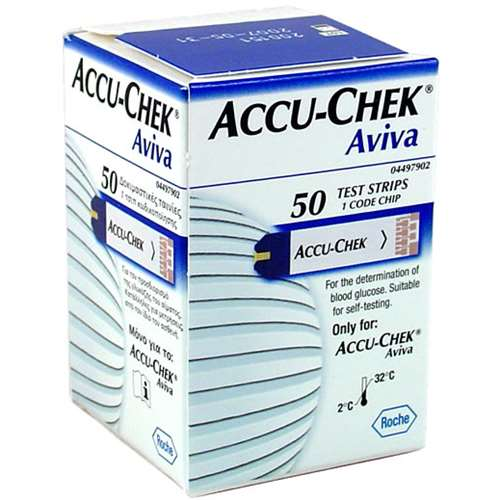 Image of Accu-Chek Aviva Test Strips (50)
