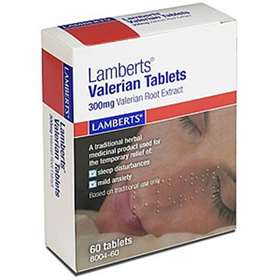 Lamberts Valerian 60 Tablets 300mg Valerian Root Extract