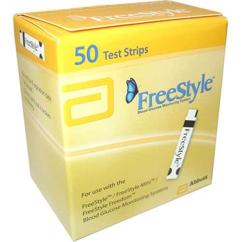 FreeStyle Blood Glucose Test Strips 50