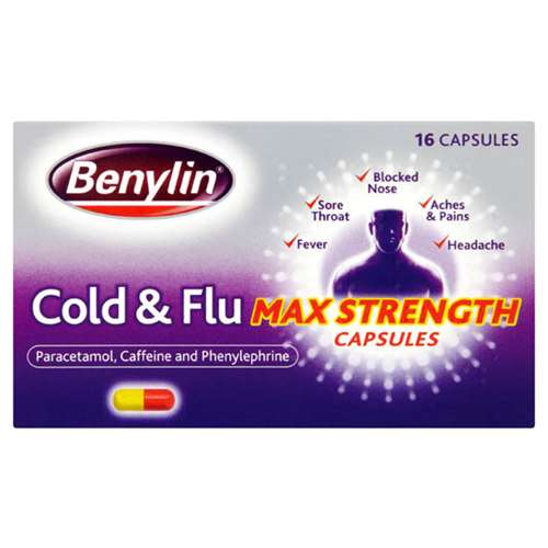 Image of Benylin Cold & Flu Max Strength Capsules (16)
