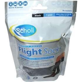 Scholl Flight Socks Black 3-6