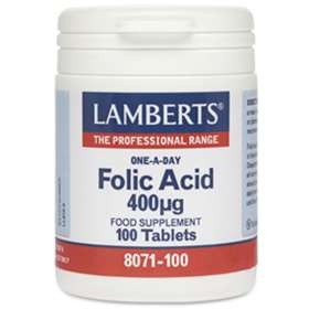 Lamberts Folic Acid 400µg 100 tablets