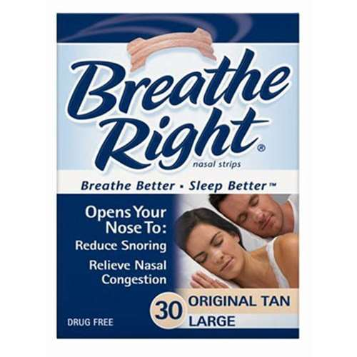 Image of Breathe Right Nasal Strips Original 30 Large