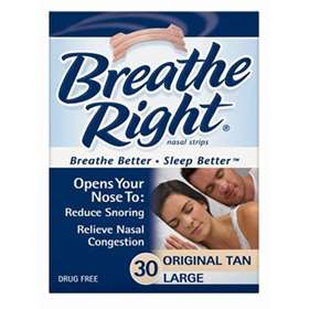Breathe Right Nasal Strips Tan 30 Large