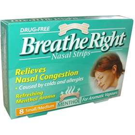 Breathe Right Nasal Strips Mentholated Small/Medium 8