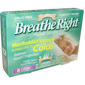 Breathe Right Nasal Strips Mentholated 8 Large