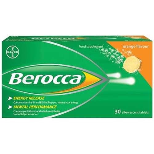 Image of Berocca Orange 30 Effervescent tablets