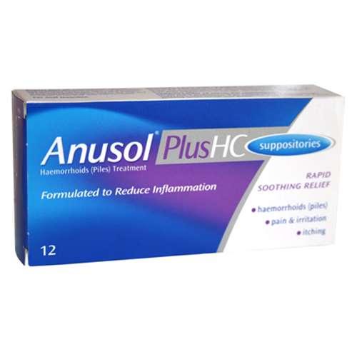 Image of Anusol Plus HC Suppositories (12)