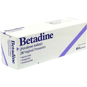 suppositories vaginal betadine