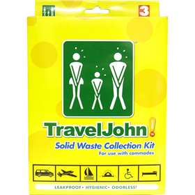 Travel John! Solid Waste Collection Kit (3 Pack)