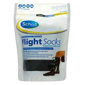 Scholl Flight Socks Black 9.5-12