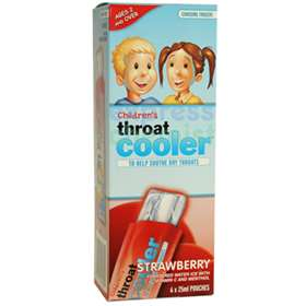 Children's Throat Cooler Strawberry 6 x25ml