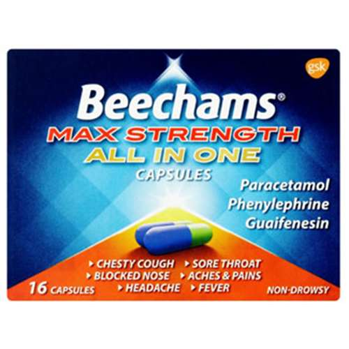 Image of Beechams Max Strength All In One Capsules (16)