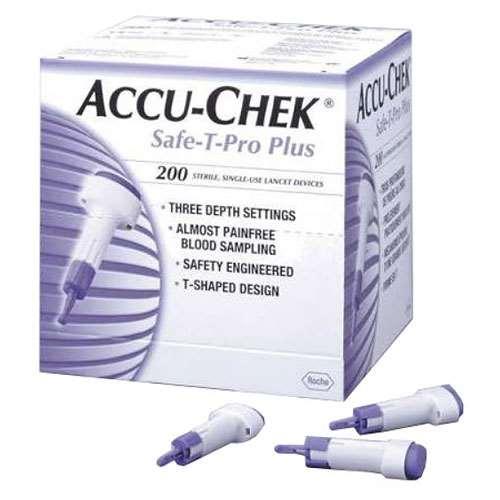 Accu-Chek Safe-T-Pro Plus (200)