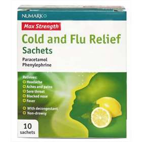 Numark Max Strength Cold and Flu Relief x10 Sachets
