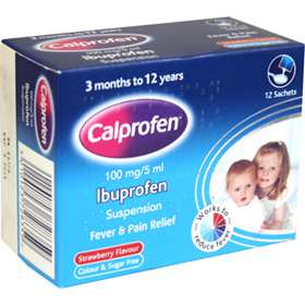 Calprofen Ibuprofen Suspension 5ml Sachets 12