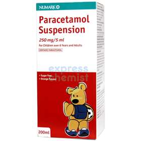 Numark Paracetamol Suspension 6+ Years and Adults Orange Flavour 200ml