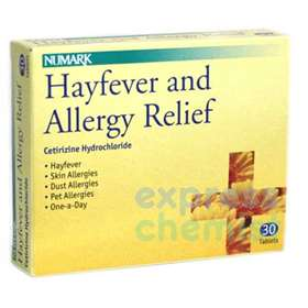 Numark Hayfever And Allergy Relief Tablets 30