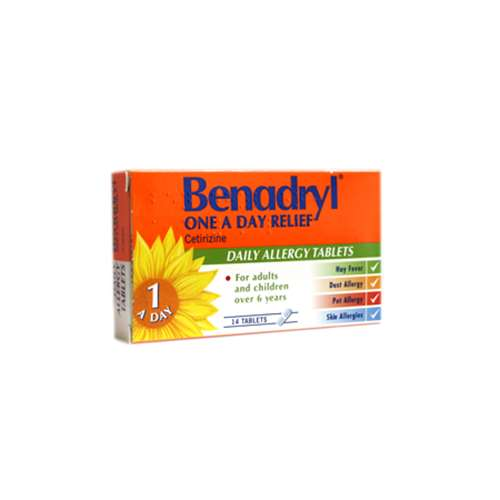 Image of Benadryl One a Day Relief Tablets 14