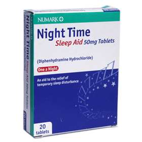 Numark Night Time Sleep Aid 50mg 20 Tablets