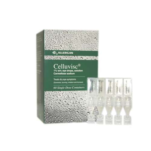 Celluvisc 1% w/v Eye Drops Single Dose Containers 60 (Green)
