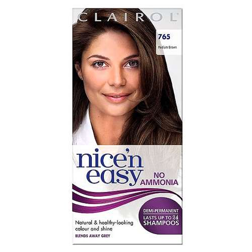 Image of Clairol Nice 'n Easy Demi-Permanent Hair Colour Up To 24 Washes 765 Medium Brown
