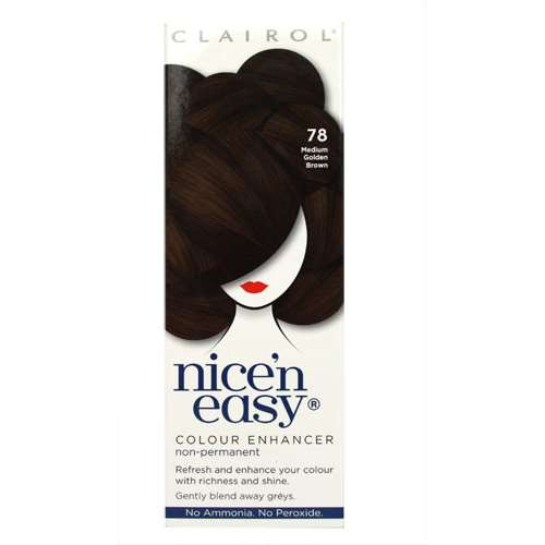 Image of Clairol Nice 'n Easy Non-Permanent 6-8 Washes 78 Medium Golden Brown