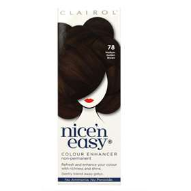 Clairol Nice 'n Easy Non-Permanent Hair Colour Up To 6-8 Washes 78 Medium Golden Brown