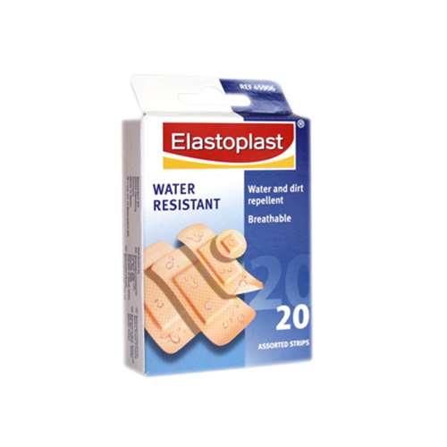 Elastoplast water resistant assorted strips x20