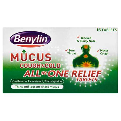 Image of Benylin Mucus All in One Relief Tablets 16