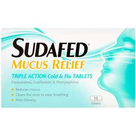 Sudafed Mucus Relief Tablets 16