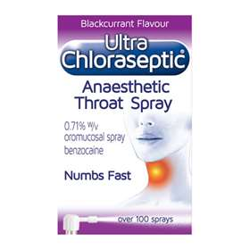 Ultra Chloraseptic Anaesthetic Throat Spray Blackcurrant 15ml