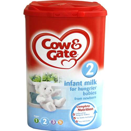 Image of Cow and Gate 2 Infant Milk For Hungrier Babies (From Newborn) 900g