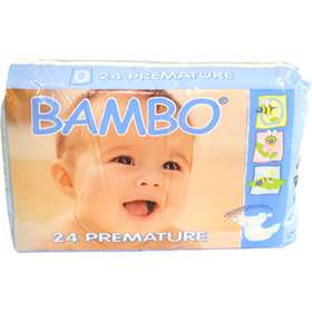 Bambo Premature Nappies (24) 1-3 kg / 2-6 lbs