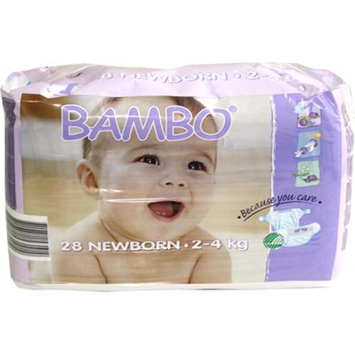 Image of Bambo Newborn Nappies (28) 2-4 kg / 4-9 lbs