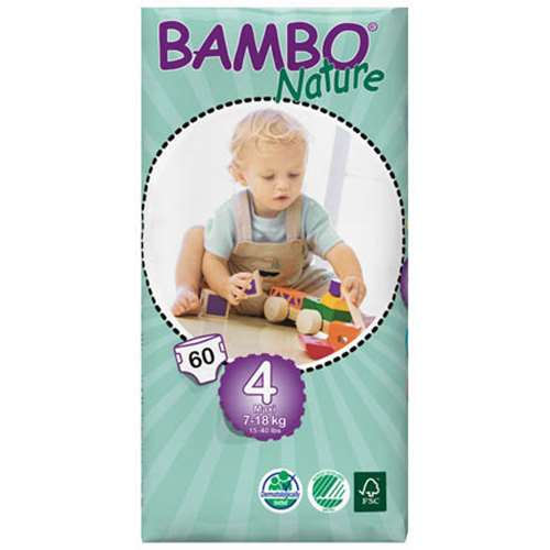 Image of Bambo Maxi Nappies (60) 7-18kg / 15-40lbs