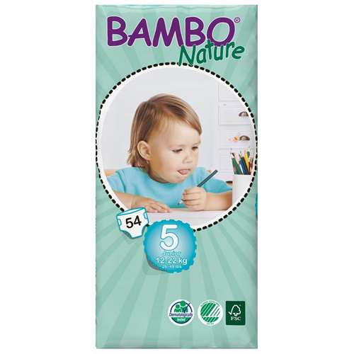 Image of Bambo Junior Nappies (54) 12-22kg / 26-49lbs