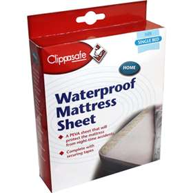Clippasafe Waterproof Mattresses Sheet Single Bed Size