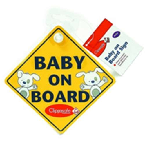 Image of Clippasafe Baby On Board Sign