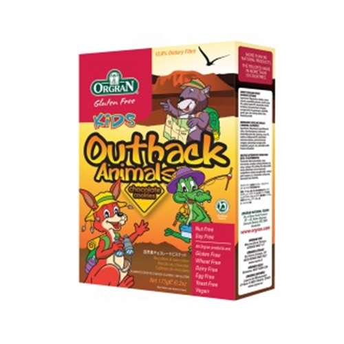 Image of Orgran Gluten Free Kids Outback Animals Chocolate Cookies 175g