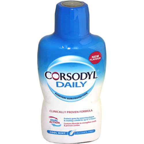Image of Corsodyl Daily Alcohol free mouth wash Cool Mint 500ml