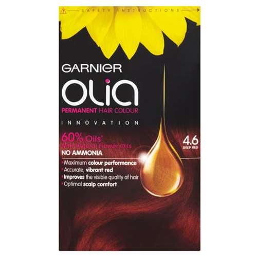 Image of Garnier Olia Permanent Hair Colour Deep Red 4.6