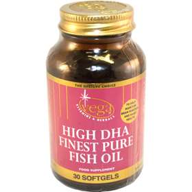 Vega High DHA Finest Pure Fish Oil Soft Gels 30