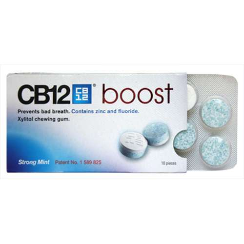 Image of CB12 Boost Xylitol Chewing Gum Strong Mint 10
