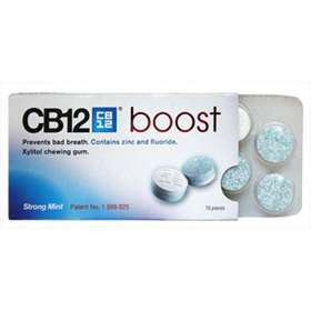 CB12 Boost Xylitol Chewing Gum Strong Mint 10