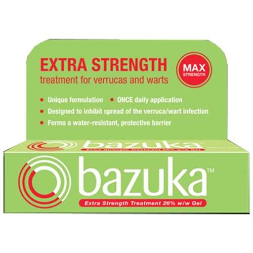 Image of Bazuka Extra Strength Verruca & Wart Treatment 6g