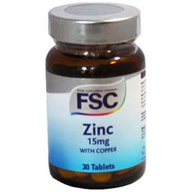 FSC Zinc with Copper 15mg 30 Tablets