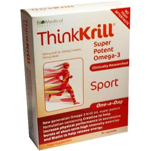 Thinkkrill Super Potent Omega-3 Sport 30 Capsules