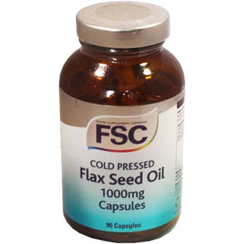 FSC Cold Pressed Organic Flaxseed Oil 1000mg - 90 Capsules
