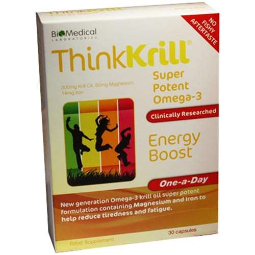Thinkkrill Super Potent Omega-3 Energy Boost 30 Capsules